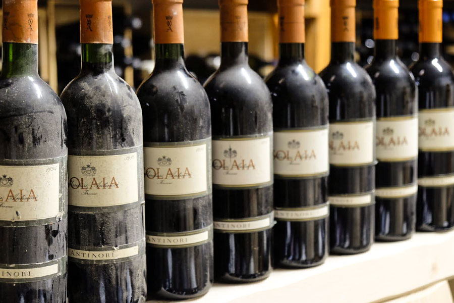 Cantina dei vini del ristorante Umberto a Mare di Ischia